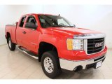 2009 Fire Red GMC Sierra 2500HD SLE Extended Cab 4x4 #52809182