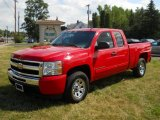 2009 Victory Red Chevrolet Silverado 1500 LS Extended Cab 4x4 #52818074