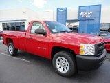 2011 Victory Red Chevrolet Silverado 1500 Regular Cab #52817169