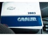2003 Chevrolet Cavalier LS Sport Sedan Books/Manuals