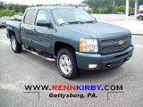 2011 Blue Granite Metallic Chevrolet Silverado 1500 LT Crew Cab 4x4 #52817665