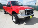 2004 Red Ford F250 Super Duty XLT Regular Cab 4x4 #52817307