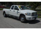 2007 Bright White Dodge Ram 3500 SLT Quad Cab 4x4 Dually #52817932
