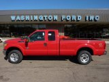 2012 Vermillion Red Ford F250 Super Duty XLT SuperCab 4x4 #52817438