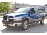 2008 Patriot Blue Pearl Dodge Ram 1500 SXT Quad Cab #52971833