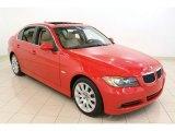 2006 Electric Red BMW 3 Series 330xi Sedan #52971943