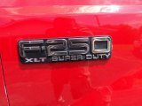 2003 Ford F250 Super Duty XLT SuperCab 4x4 Marks and Logos