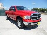 2005 Flame Red Dodge Ram 1500 SLT Quad Cab 4x4 #52971770