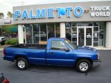 2004 Arrival Blue Metallic Chevrolet Silverado 1500 Regular Cab #52971801