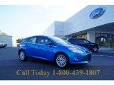 2012 Blue Candy Metallic Ford Focus SEL 5-Door #52971732