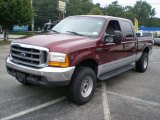 2000 Dark Toreador Red Metallic Ford F250 Super Duty XLT Crew Cab 4x4 #53005026