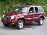 2002 Dark Garnet Red Pearlcoat Jeep Liberty Limited 4x4 #53005403