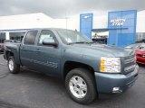 2011 Blue Granite Metallic Chevrolet Silverado 1500 LT Crew Cab 4x4 #53005249
