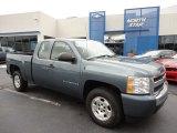 2008 Blue Granite Metallic Chevrolet Silverado 1500 LS Extended Cab 4x4 #53005262