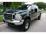 2004 Dark Green Satin Metallic Ford F250 Super Duty XLT Crew Cab 4x4 #53005291
