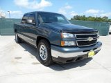 2006 Blue Granite Metallic Chevrolet Silverado 1500 LS Crew Cab #53005310