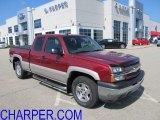2005 Sport Red Metallic Chevrolet Silverado 1500 Z71 Extended Cab 4x4 #53004989