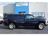 2008 Dark Blue Metallic Chevrolet Silverado 1500 Work Truck Regular Cab 4x4 #53005741