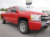 2009 Victory Red Chevrolet Silverado 1500 LS Crew Cab #53005338