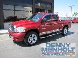 2007 Inferno Red Crystal Pearl Dodge Ram 1500 Laramie Quad Cab 4x4 #53005544
