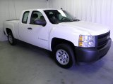 2008 Summit White Chevrolet Silverado 1500 Work Truck Extended Cab #53064366