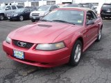 2001 Laser Red Metallic Ford Mustang V6 Convertible #53064092