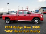 2004 Flame Red Dodge Ram 3500 SLT Quad Cab 4x4 Dually #53064608