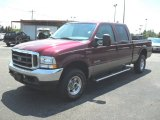 2004 Dark Toreador Red Metallic Ford F250 Super Duty Lariat Crew Cab 4x4 #53064504
