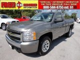 2007 Graystone Metallic Chevrolet Silverado 1500 LS Regular Cab #53064509