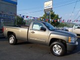 2011 Steel Green Metallic Chevrolet Silverado 1500 LT Regular Cab 4x4 #53117186