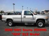 2005 Silver Birch Metallic GMC Sierra 2500HD SLE Regular Cab 4x4 #53117768
