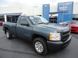 2008 Blue Granite Metallic Chevrolet Silverado 1500 Work Truck Regular Cab 4x4 #53117329