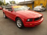 2007 Torch Red Ford Mustang V6 Deluxe Convertible #53117668