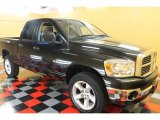 2008 Brilliant Black Crystal Pearl Dodge Ram 1500 SLT Quad Cab 4x4 #53117514