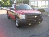 2007 Victory Red Chevrolet Silverado 1500 Work Truck Regular Cab #53171740