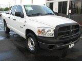 2008 Bright White Dodge Ram 1500 ST Quad Cab #53172091
