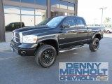 2008 Brilliant Black Crystal Pearl Dodge Ram 1500 Laramie Quad Cab 4x4 #53171932