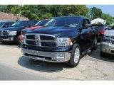 2010 Brilliant Black Crystal Pearl Dodge Ram 1500 Big Horn Quad Cab 4x4 #53224592