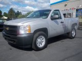 2011 Sheer Silver Metallic Chevrolet Silverado 1500 Regular Cab 4x4 #53247409