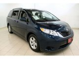 2011 South Pacific Blue Pearl Toyota Sienna LE #53247690