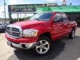 2006 Flame Red Dodge Ram 1500 SLT Quad Cab 4x4 #53247553