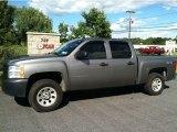 2008 Graystone Metallic Chevrolet Silverado 1500 Work Truck Crew Cab 4x4 #53279931