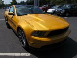 Yellow Blaze Metallic Tri-Coat Ford Mustang in 2012