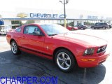 2006 Torch Red Ford Mustang V6 Deluxe Coupe #53280238