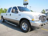 2004 Oxford White Ford F250 Super Duty Lariat Crew Cab 4x4 #53279901