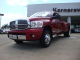 2007 Inferno Red Crystal Pearl Dodge Ram 3500 Laramie Quad Cab 4x4 Dually #53327887