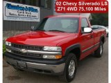 2002 Victory Red Chevrolet Silverado 1500 LS Regular Cab 4x4 #53327689