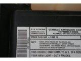 2002 Chevrolet Silverado 1500 LS Regular Cab 4x4 Info Tag