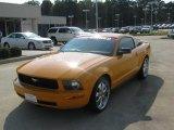 2007 Grabber Orange Ford Mustang V6 Deluxe Coupe #53327825