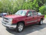 2005 Sport Red Metallic Chevrolet Silverado 1500 Z71 Extended Cab 4x4 #53328012